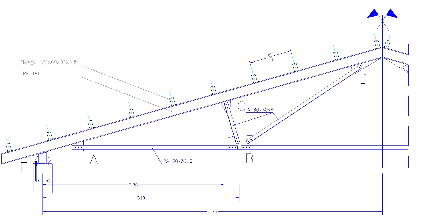 Progetto Capriata In Legno calcolo capriata in acciaio - sim srl [software tecnico