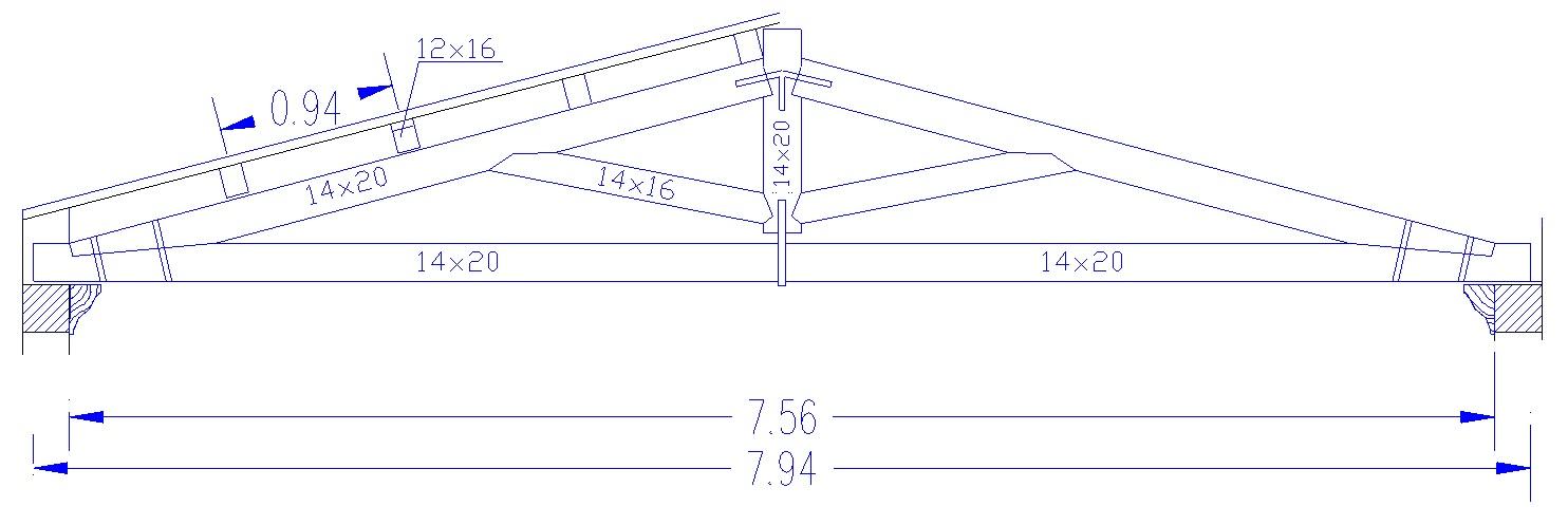 Calcolo capriata in legno for Particolari costruttivi capriata in legno