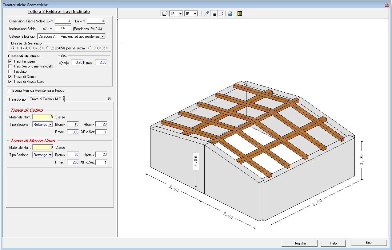 Dimensionamento Pergolato In Legno solai e tetti in legno - sim srl [software tecnico